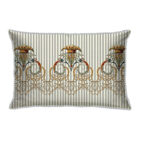 Ornate Victorian Ivory Long Cushion