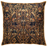 Black Kalamkari Jaal Cushion