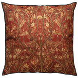 Red Kalamkari Jaal Cushion
