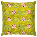 Kashmir Foliage - Lime Green Cushion