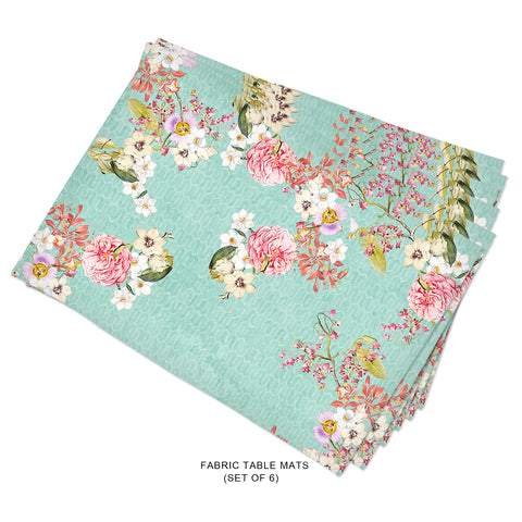 Vintage Floral Fabric Tablemats