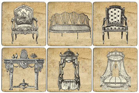 Sepia Furniture Coaster Set