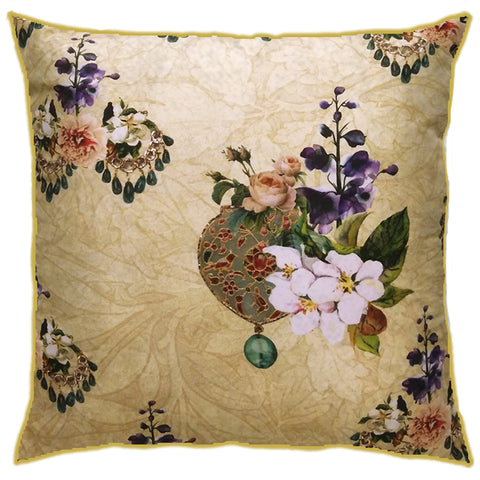 Jewelled Floral Cushion