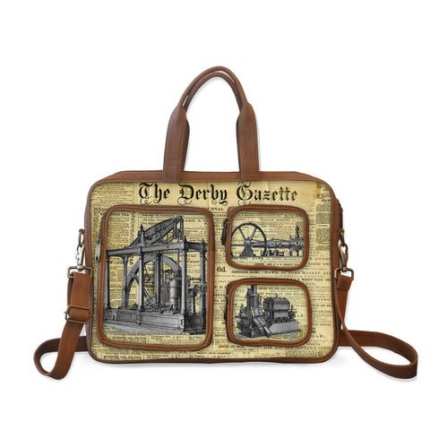 Vintage Newspaper Print Laptop bag