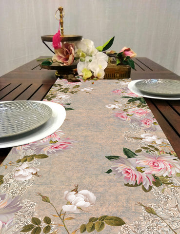Lilac Grunge Dining Table Runner