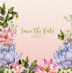 Save the Date - Lotus Blossom