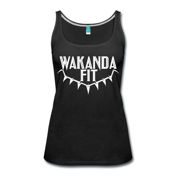 WakandaFit Women's Premium Tank Top - black