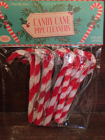 Candy Cane Pipe Cleaners - Pack of 10