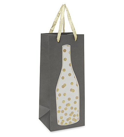 Wine & Champagne Bottle Gift Bag: Meri Meri Gold Confetti