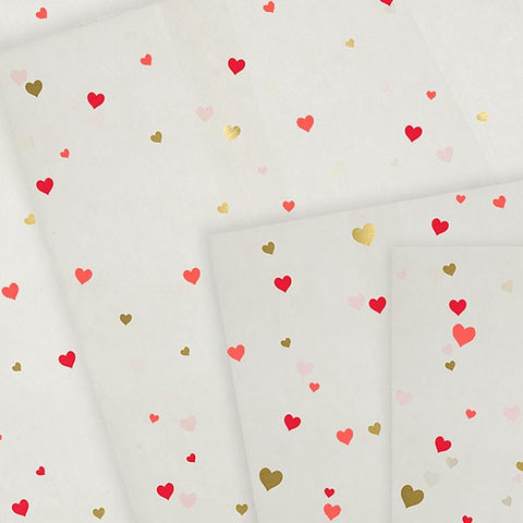 Meri Meri Glassine Heart Treat Bags: White with Hearts: Pack of 24