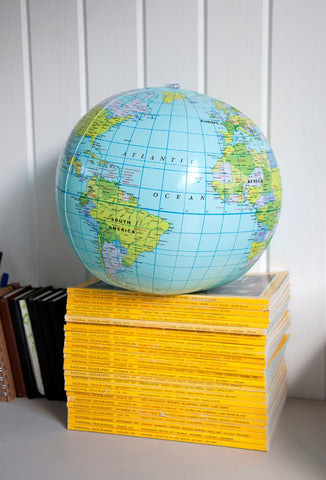 Inflatable Vintage World Globe