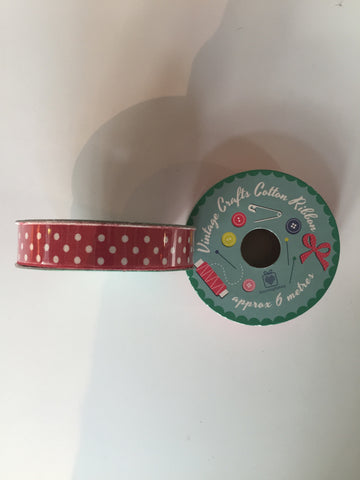 Ribbon: Polka Dot 6m
