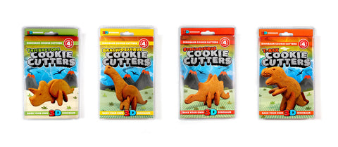 Cookie Cutter Set: 3-D Dinosaurs