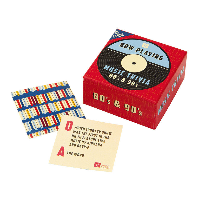 Music Trivia Game: 80's & 90's Music | Baker and Maker