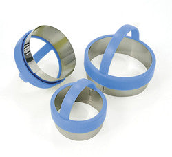 Round Pastry Cutters: Set of 3.