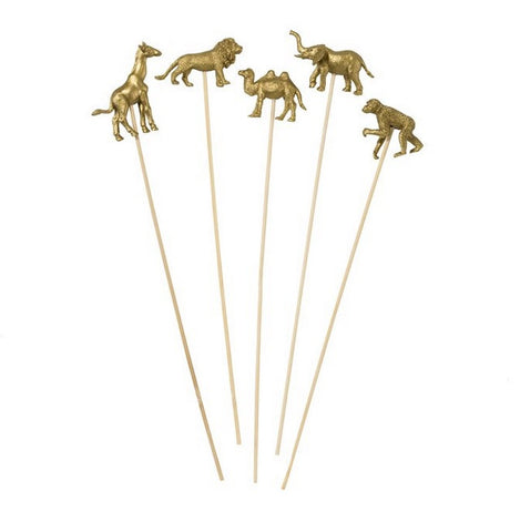 Gold Animals on Sticks
