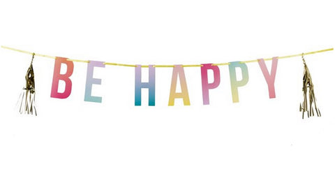 Bunting/Garland: Be Happy Party Tassel