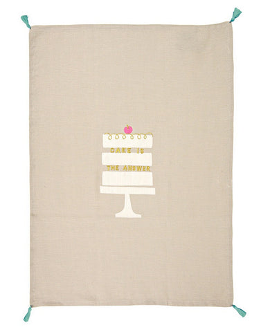 Tea Towel: Cake is the Answer