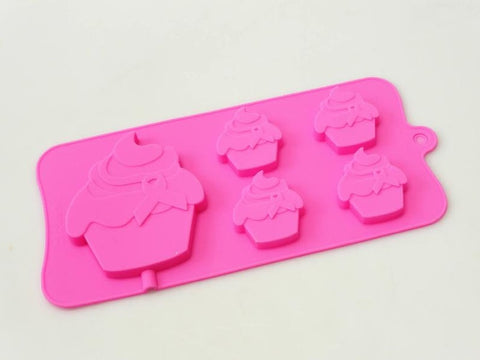 Silicone Mould: Charity Cupcake with Ribbon - Cake Topper, Chocolate or Lolly Mould