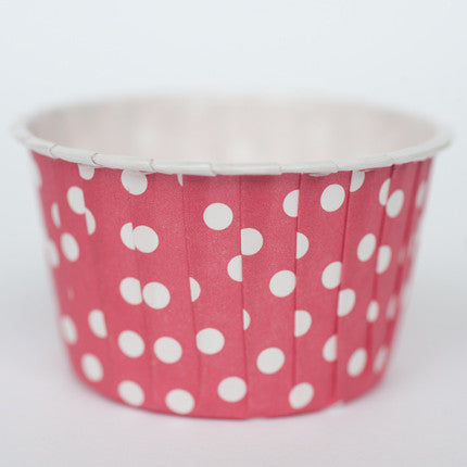 Baking Cups: Pleated Polka Dots/Spots: Red: Pack of 20