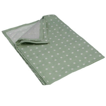 Apron: Green Spotty Cotton