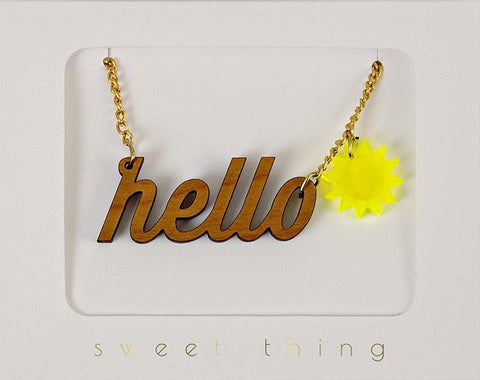 Necklace: Hello Sunshine