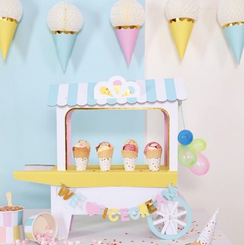 Honeycomb Garland: Ice Cream Cones