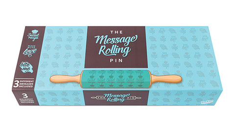 Embossed Rolling Pin with Three Messages