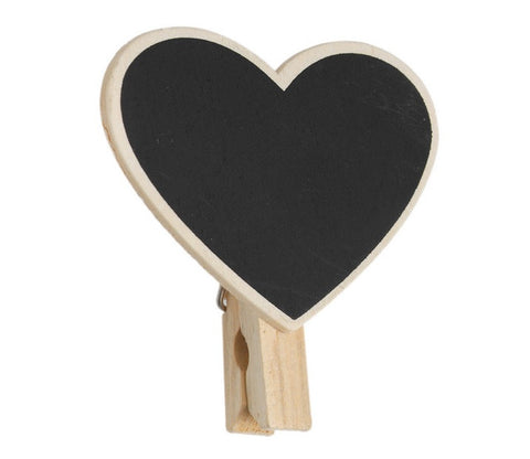 Mini Blackboard Pegs: Rectangle and Heart