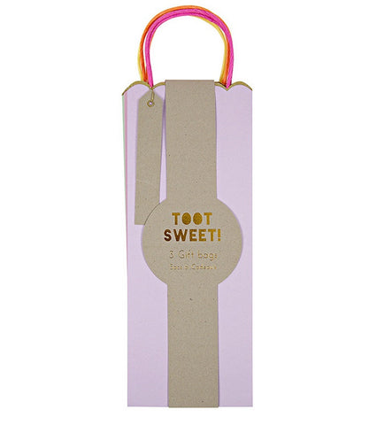 Bags: Toot Sweet Pastel and Neon Wine Bottle Gift Bags