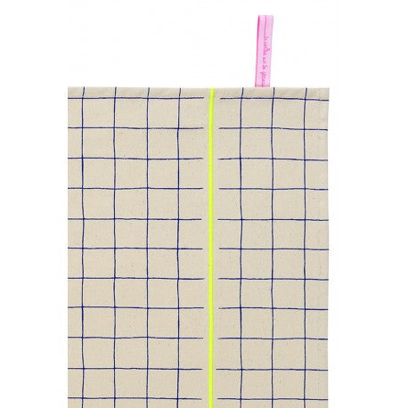 Tea Towel: Gaston Yellow Grid - La Cerise Sur Le Gateau