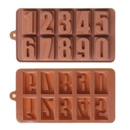 Silicone Mould: Numbers 0 to 9