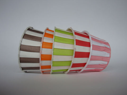 Baking Cups: Pleated Stripes: Pack of 20