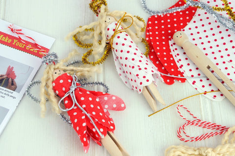 Christmas Craft Kit: Make Your Own Dolly Peg Angels