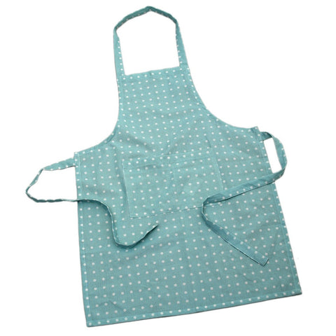 Apron: Blue Spotty Cotton