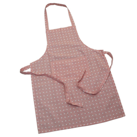 Apron: Pink Spotty Cotton
