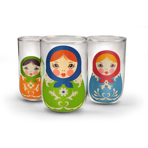 Babushkups: A Trio of Nesting Glasses