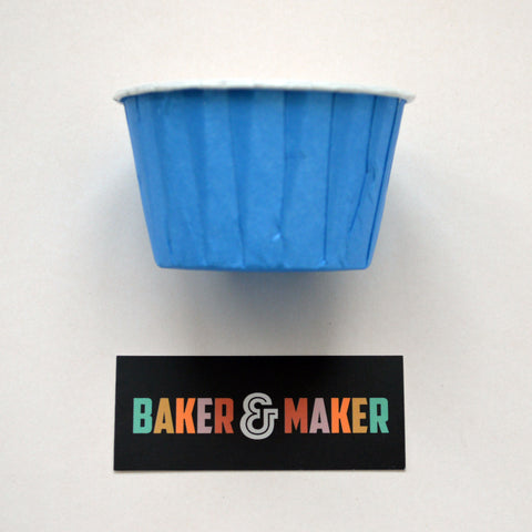 Baking Cups: Pleated Blue: Pack of 20