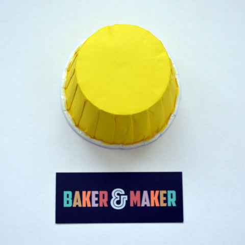 Baking Cups: Pleated Yellow: Pack of 20