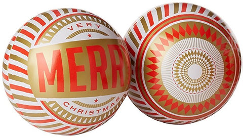 Christmas Baubles: Gold and Red Refillable