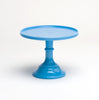 Milk Glass Cake Stand: Blue