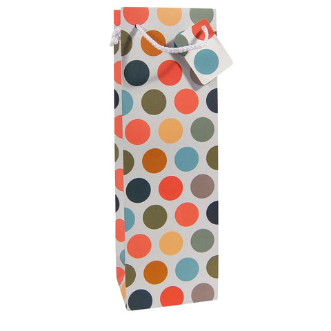 Wine & Champagne Bottle Bag: Multicoloured Spot