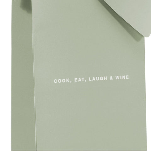 Wine & Champagne Bottle Gift Bag: Cook, Eat, Laugh & Wine