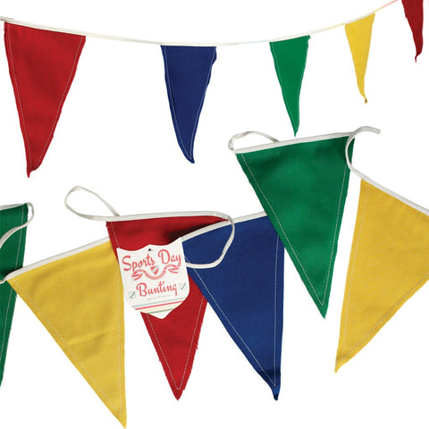 Bunting: Sports Day - Primary Colours in Cotton 8m