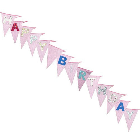 Bunting: Happy Birthday Cotton 8m