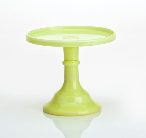 Milk Glass Cake Stand: Buttercream