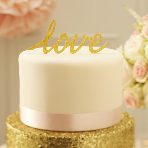 Cake Topper: Gold Love