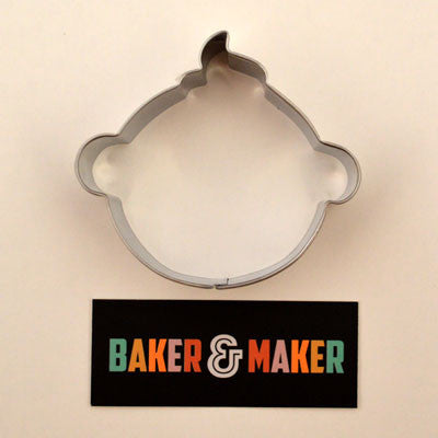 Cookie Cutters: Stainless Steel Baby's Face or Head
