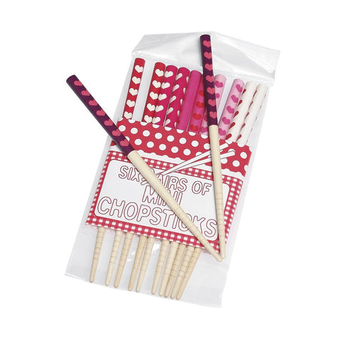 Heart Mini Chopsticks: Set of 6