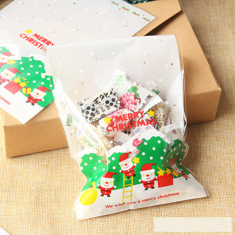 Christmas Cello Bags: We wish you a Merry Christmas - Pack of 10
